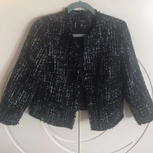 """Ann Tailor blue """"coco Chanel style"""" jacket"""